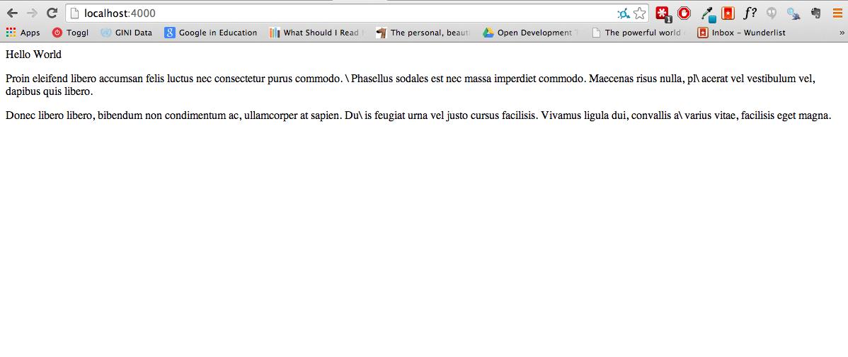 Screenshot of site version 1