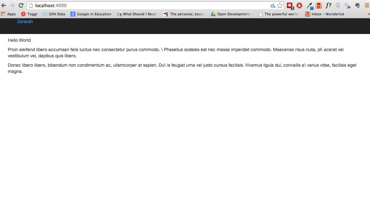 Screenshot of site version 2