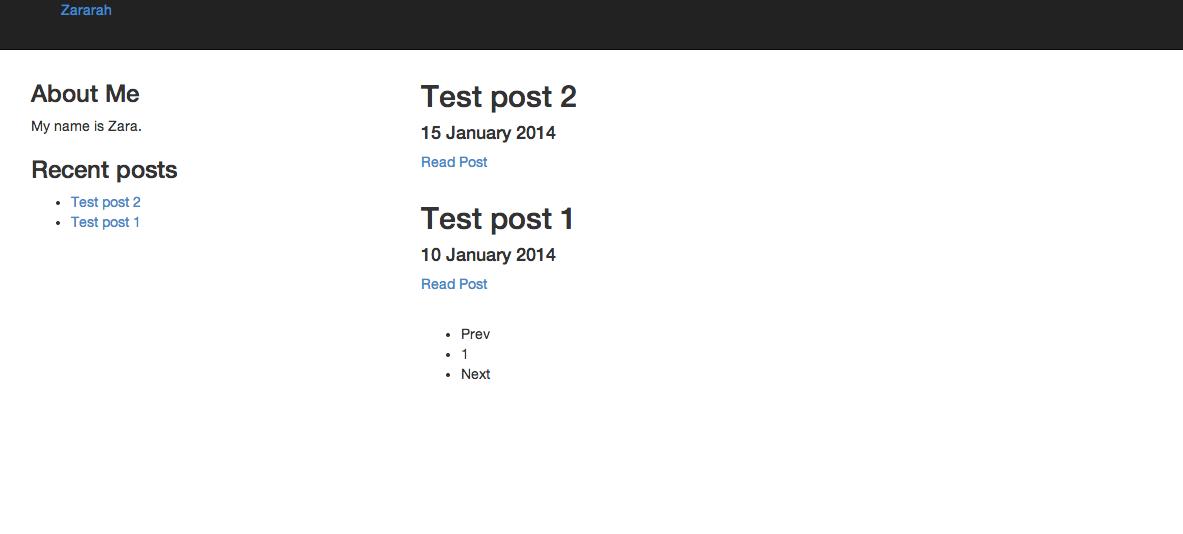 Screenshot of site version 3